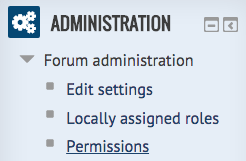 administration block - permissions