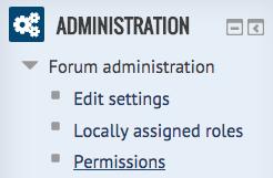 administration block - permissions