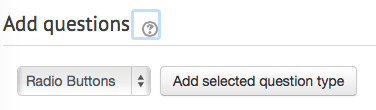 add radio buttons