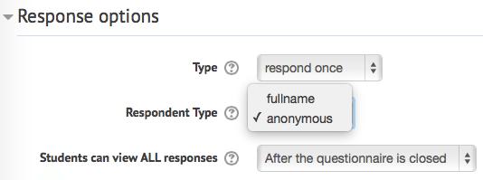 response options