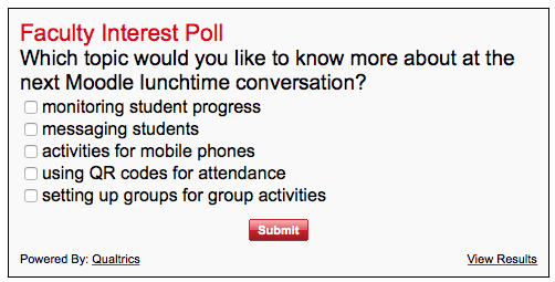 Faculty Interest Poll